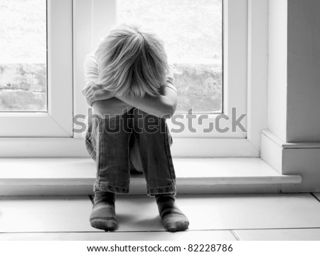Sadness - a lonely child