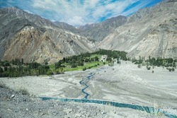 Sadpara Village in Skardu, Pakistan: Selective focus, selective focus on subject, background blur