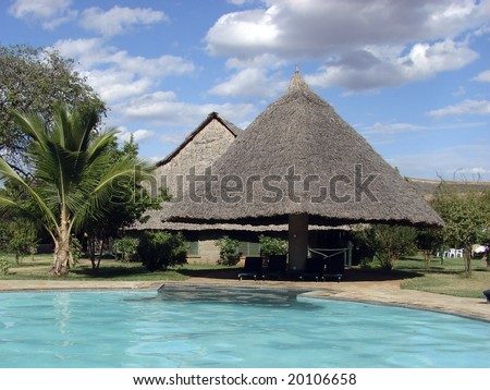 Safari lodge in Tsavo National Park - Kenya