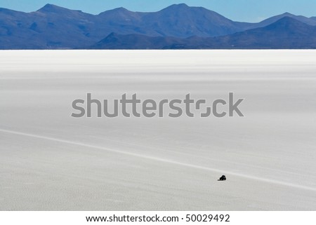 Safari on the world biggest salt flats in Bolivian Andes