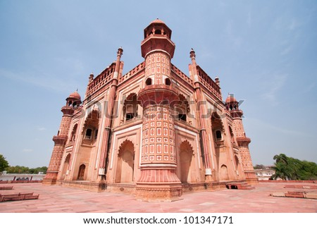 Safdarjung's Tomb, the last great Mughal garden tomb built in the 18th century , Delhi -India