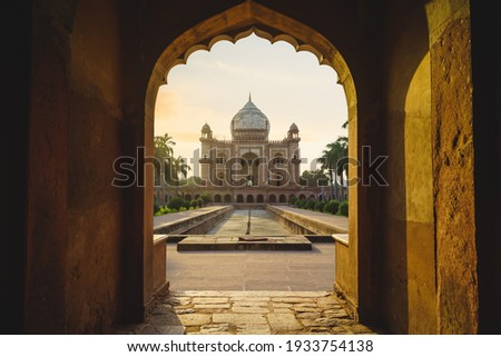 Safdarjungs Tomb, a mausoleum in Delhi, India. view from the entrance