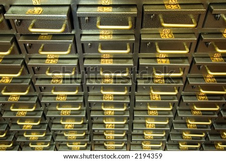 Safe deposit boxes - stock photo