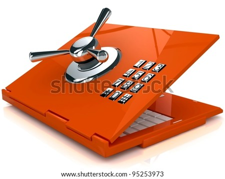 Safe laptop - stock photo