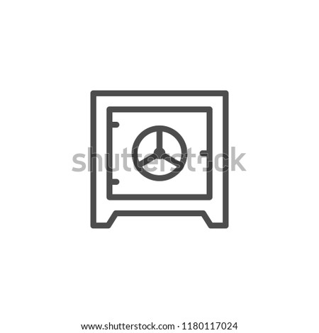 Safe line icon isolated on white