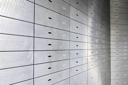 Safe lockers, Safe deposit boxes of an German bank