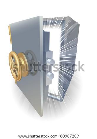 Safe opening containing something amazing