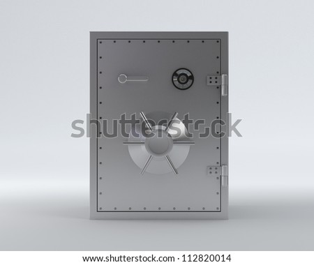 Safe with clipping path - Isolated on Background