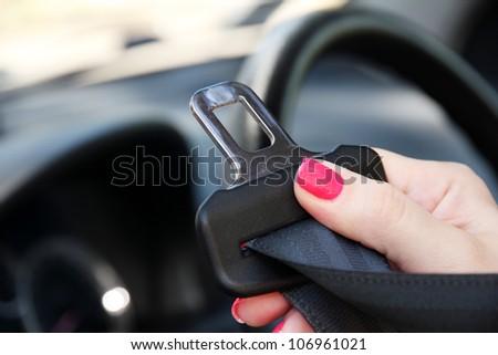 Safety belt in car