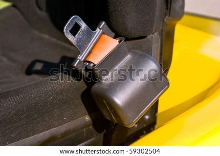 Safety belt of a forklift truck