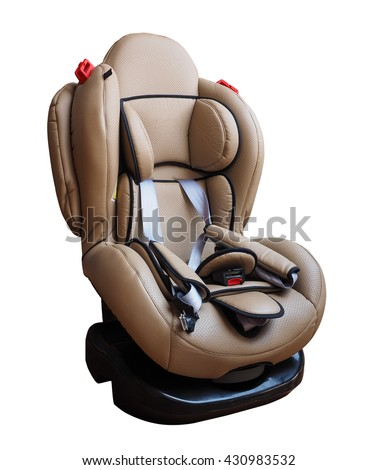 Safety Car seat for baby and kid, isolated on white background with clipping path