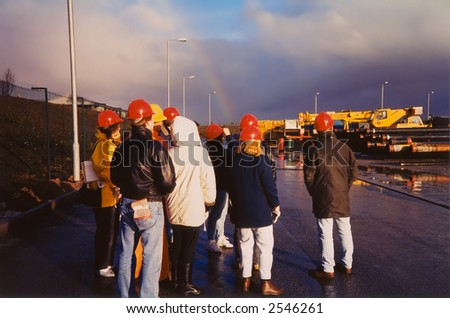 Safety Engineers inspecting an industrial park