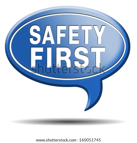 safety first rules for security at work and safe and healthy life, risk management icon or banner