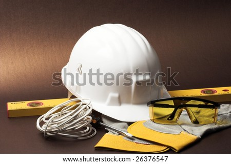 Safety gear kit close up