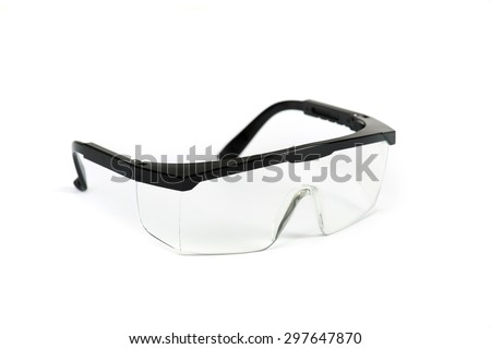 Safety glasses on isolated