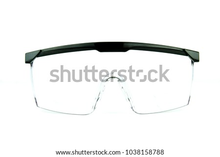 Safety glasses on white background #1038158788