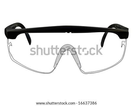 cartoon lab goggles