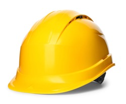 Safety hardhat isolated on white. Construction tool