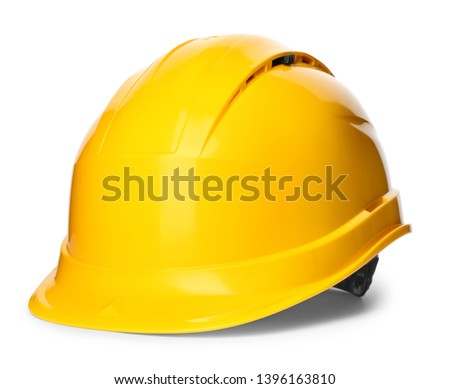 Safety hardhat isolated on white. Construction tool #1396163810