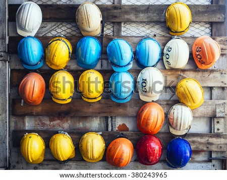 Safety Helmet Engineering Construction worker equipment #380243965