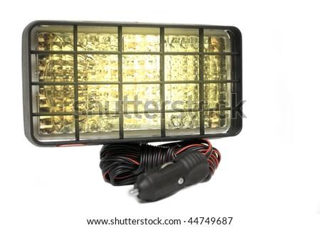 safety lights on white background