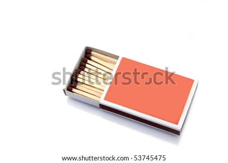 safety matches isolated on white