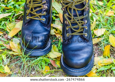 Safety Shoes On the grass