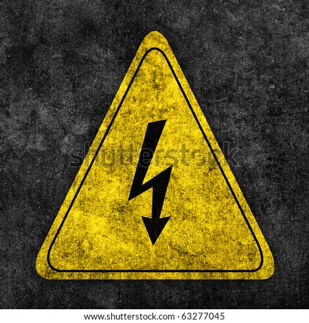 safety sign electric beware
