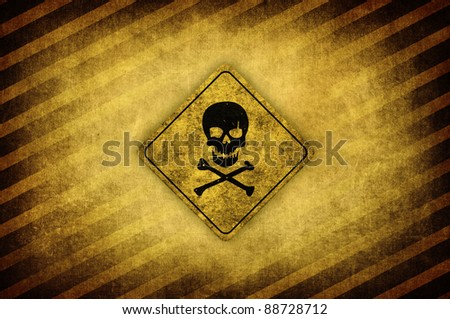 safety sign, vintage danger sign