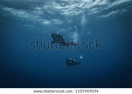 safety stop of divers #1105969034