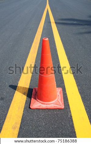 Safety Traffic Cones on road