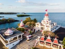Sagar Shiv Mandir Hindu Temple on Mauritius Island.