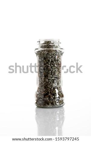 Sage in a glass jar