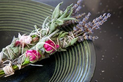 Sage, rose and lavender smudge sticks