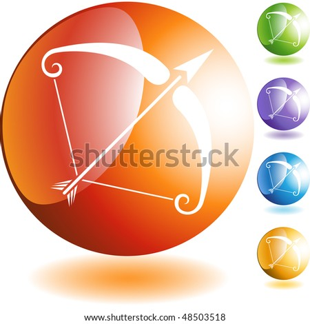 Sagittarius web button isolated on a background - stock photo