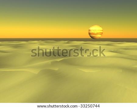 sahara desert and globe