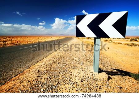 Sahara Desert road