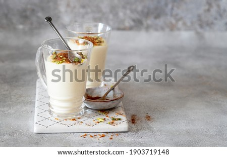 Sahlab drink is a Middle Eastern sweet milk pudding Stock photo ©