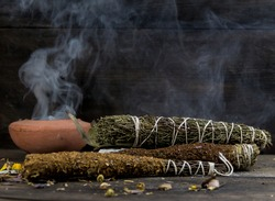 Sahumos, handmade incenses made with herbs and flowers, For cleaning rituals