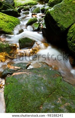 Sai Thip Waterfall at Phu Soi Dao National Park, Uttaradit, Thailand