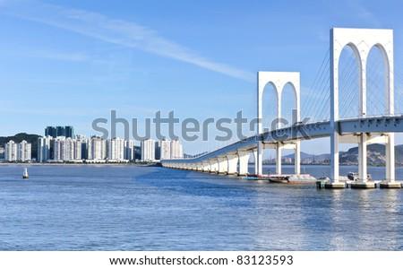 Sai Van bridge and business building