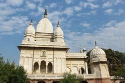 Saide view. Kali Temple on the northern bank of Gangasagar Pond, Rajnagar, Bihar, india.