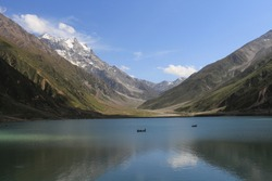 Saiful Muluk is a mountainous lake located at the northern end of the Kaghan Valley, near the town of Naran in the Saiful Muluk National Park. At an elevation of 3,224 m above sea level, the lake is l