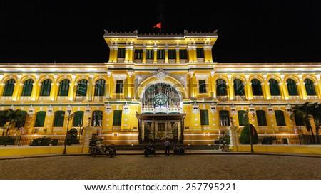 Saigon Central Post Office at Ho Chi Minh City, Viet Nam