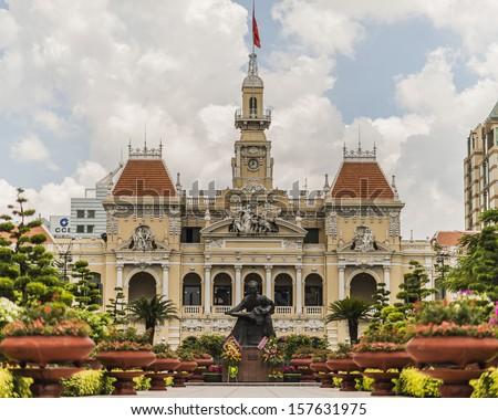 Saigon Central Post Office in HO CHI MINH CITY, VIETNAM