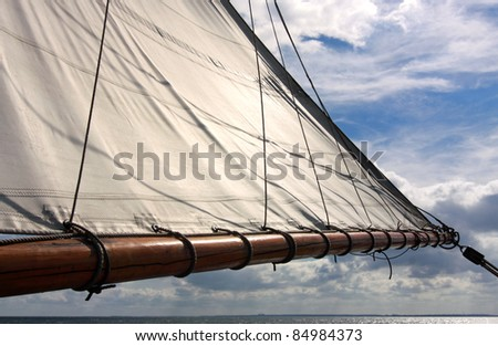 Sail as background