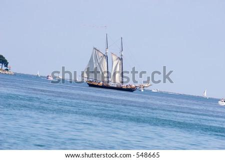 Sail Ship in the Ocean