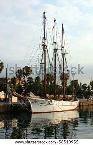 sailboat at Barcelona marina
