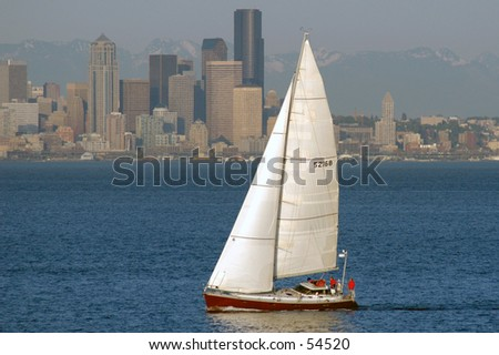 Sailboat off seattle