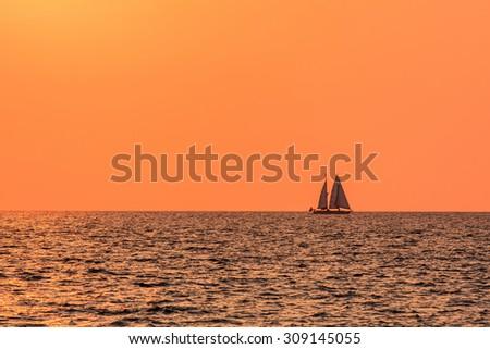 sailboat /sailing slow life in andaman sea